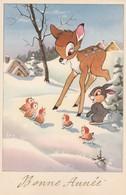 Walt Disney , Bambi Et Pan Pan ,n° 4711 /3 , ( Bonne Année ) - Disney