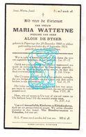 DP Maria Watteyne ° Poperinge 1868 † 1933 X Alois De Byser - Devotion Images