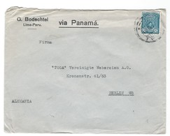 COVER CORREO AEREO PEROU - LIMA - VIA PANAMA - BERLIN W8 -  ALEMANIA. - Pérou