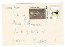 COVER CORREO AEREO PEROU - LIMA - VIA A.D.AOSTA  - MILANO - ITALIA. - Pérou