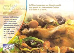 CPM - RECETTE DE CUISINE POITOU CHARENTES - LAPIN AU PINEAU DES CHARENTES - Ricette Di Cucina