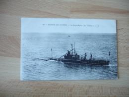 Cpa Sous Marin La Loutre - Sottomarini