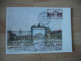 1952 Cm Carte Maximum Chateau Versailles - Maximumkarten