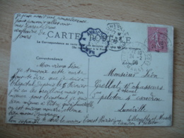 Nancy A Avricourt Cachet Ambulant Convoyeur Poste Ferroviaire Sur Lettre - Storia Postale