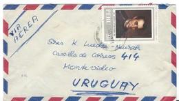 COVER CORREO AEREO PEROU - SANTIAGO - LIMA - MONTE VIDEO - URUGUAY. - Pérou