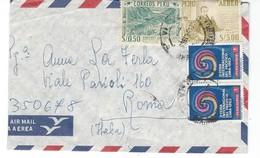 COVER CORREO AEREO PEROU - LIMA - ROMA - ITALIA. - Peru