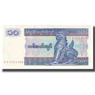 Billet, Myanmar, 10 Kyats, KM:71a, NEUF - Myanmar