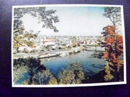 Card Carte Karte Lithuania Kaunas 1956 Panorama River Bridge - Litouwen