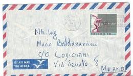 COVER CORREO AEREO PEROU - MEUTARO- VIA SENATO - MILANO- ITALIA - 1970. - Pérou