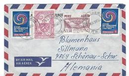 COVER CORREO AEREO PERU - LIMA - SCHONAU-SCHW - ALEMANIA - Peru