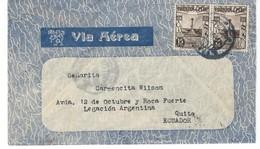 COVER CORREO AEREO PERU - LIMA - LEGACION ARGENTINA - QUITO - ECUADOR. - Pérou