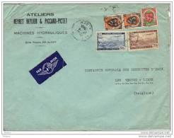 ALGERIE, 1946, OBL SUR LETTRE  PAR AVION.  (FL18) - Storia Postale