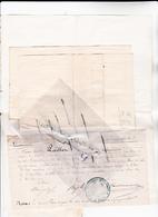 27 - GISORS - FRANC-MACON - FRERES De BLANMONT LOT De 3 Doc Dont Un Reçu De 100 Frs Pour Cote Part Création De La LOGE - - Vieux Papiers