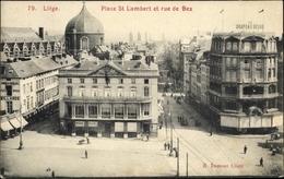 Cp Liège Lüttich Wallonien, Place St Lambert Et Rue De Bex - Belgio