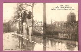 Cpa Mery Sur Seine Crue De La Seine - Janvier 1910 Route Submergee A L'entree De La Ville   - Pierre Fevre Phot - Francia