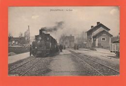 Jullouville , ( Granville , Avranches )  , La Gare ( Intérieur , Train ) - Granville
