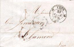 1831  LYON - CHAMOND 12-061    LYON - Poststempel (Briefe)