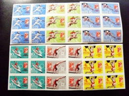 6 Sets Of 6 Post Stamps MNH Imperforated Ussr 1964 Tokyo Olympic Games Sport Japan - 1923-1991 URSS