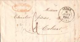 1844 SEDAN – NANCY – COLMAR 14-462 - Postmark Collection (Covers)