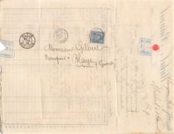1886 LANGON - BLAYE - LANGON 11-199 - Marcophilie (Lettres)