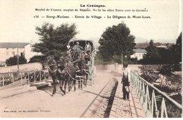 FR66 BOURG MADAME - Brun 236 - Colorisée - La Diligence De MONT LOUIS - Très Gros Plan - Animée - Belle - Autres Communes