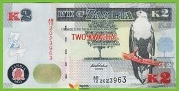 Voyo ZAMBIA 2 Kwacha 2012(2013) P49a B152a AB/12 UNC Fish Eagle - Zambia