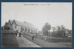 BIVILLE SUR MER - L' Eglise Et La Mare - France