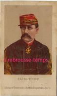 Format CDV-guerre De 1870-Général Louis FAIDHERBE 1818-1889-Librairie Universelle D'alfred Duquesne à Paris - Old Paper