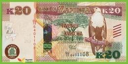 Voyo ZAMBIA 20 Kwacha 2015 P59 B162a DJ/12 UNC Fish Eagle - Zambie