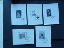 BELGIQUE - 5 Feuillets Noir & Blanc  Des N°71/74/75/ 127/138 Année 1996/97/98 / 2006/07( Voir Photo ) 48 - Zwarte/witte Blaadjes
