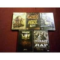 5 DVD °°°°AKHENATON EN LIVE + LE PARCOURS PAR KAMEL SALEH + MENACE SUR LA PLANETE + URBAN PEACE + REALITY MAG - DVD Musicaux