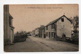 - CPA SAINT-GERMAIN-SUR-ILLE (35) - Arrivée - Route De St-Aubin - Edition Sorel N° 11 - - Saint-Germain-sur-Ille