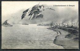 Z1877 COLONIALI Bengasi Il Bombardamento, FP, Viaggiata 1913 Posta Militare IV Divisione Tripolitania 23.10.13 Per Lecco - Other Wars