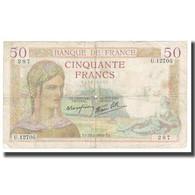 France, 50 Francs, Cérès, 1940, P. Rousseau And R. Favre-Gilly, 1940-02-22 - 1871-1952 Anciens Francs Circulés Au XXème