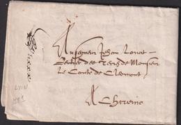 LETTRE MANUSCRITE AVEC TEXTE DE LYON DE 1581 SUP - Marcophilie (Lettres)