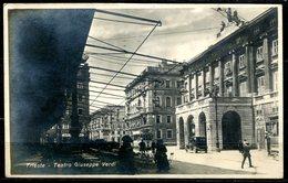 Z1878 TRIESTE (TS) Teatro Giuseppe Verdi, FP, Viaggiata 1923 Per Lecco, Buone Condizioni (GC) - Trieste