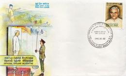 Sri Lanka Samp On FDC - Sri Lanka (Ceylon) (1948-...)