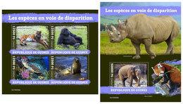 GUINEA 2019 - Endangered Species. M/S + S/S. Official Issue [GU190404] - Milieubescherming & Klimaat