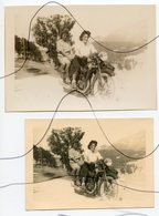 PHOTO Et Retirage A IDENTIFIÉE.  Moto . NORTON , GILERA , B.S.A , Vespa Scooter - Cars