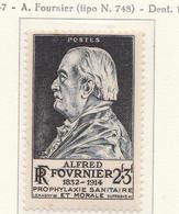 PIA - FRA - 1947 : Alfred Fournier, Medico - (Yv  789) - Medicina