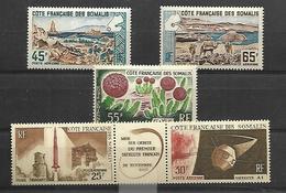 Côte Française Des Somalis  Poste Aérienne 1965        Cat Yt N° 43 à 47      N** MNH - Französich-Somaliküste (1894-1967)