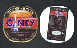 CUVEE DE CINEY - BRUNE  - 25 CL - 7 % ALC.- 2 BIERETIKETTEN  (BE 630 A) - Bier