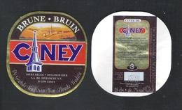 CUVEE DE CINEY - BRUNE  - 25 CL - 7 % ALC.- 2 BIERETIKETTEN  (BE 630 B) - Bier