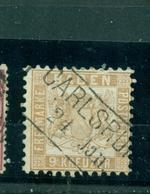 Baden, Wappen, Nr.20 B Gestempelt, Carlsruhe - Baden