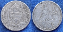 BOTSWANA - 1 Thebe 1976 KM# 3 Independent Republic Since 1966 - Edelweiss Coins - Botswana