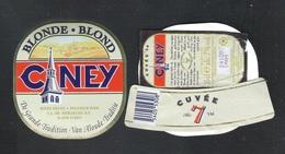 CINEY - BLONDE - CUVEE 7  - 25 CL - 7 % ALC.- 3 BIERETIKETTEN  (BE 640) - Bier