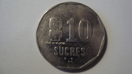 MONNAIE EQUATEUR 10 SUCRES 1991 - Ecuador