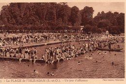 La  Plage  De  L' Isle - Adam -   Un  Jour  D' Affluence. - L'Isle Adam