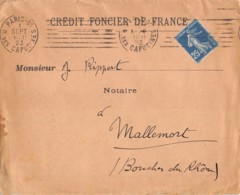 1923 PARIS – MALLEMORT 15-569 - Postmark Collection (Covers)