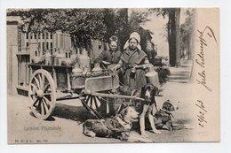 - CPA BRUXELLES (Belgique) - Laitière Flamande 1903 (superbe Gros Plan Avec Attelage De Chiens) - Edition H. N. 742 - - Artigianato